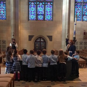 Kindergartners got a tour of Sacred Heart Cathedral