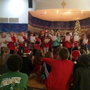 Our 3rd grades had fun with their song.