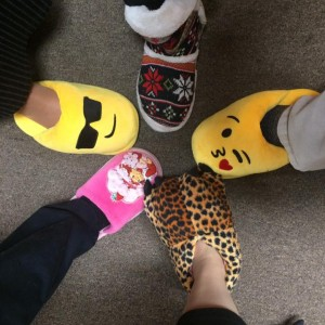 Slipper Day is enjoyed by all.