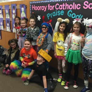 Here half of the 3rd graders show off their outfits.
