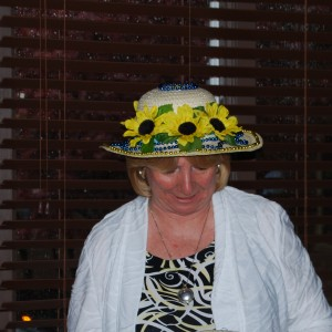 Mrs. Wagner's hat sported both Blue & Gold.