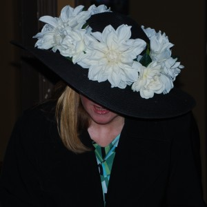 Flowers were a central part of many hats.