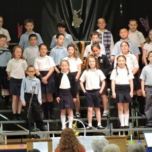 The 4th graders closed the program by singing