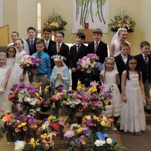 The 2nd graders looked beautiful in their Communion outfits.