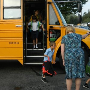 Mrs. Wagner greeted every bus to arrive.