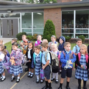 The SRS class of 2023 (a.k.a. as Kindergartners) on their 1st day!