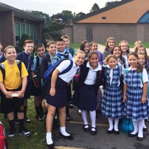 The 5th graders on their last first day at SRS!