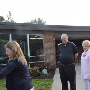 Father Gonyo came to welcome us all.
