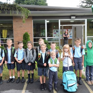 The 2nd graders were happy to pose for a picture.