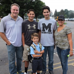James (2015) & Zach (2015) came with their brother on his 1st day of Kindergarten.