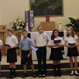The Prayers of the Faithful included praying for the hurricane victims.