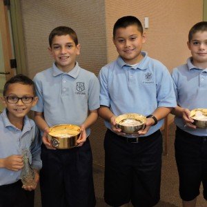 Waiting to bring the gifts up.