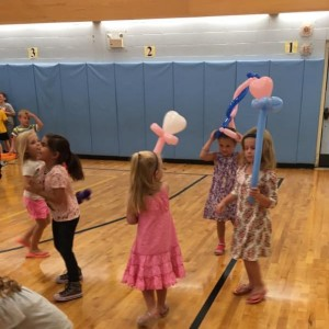 The students had fun with their balloon creations.