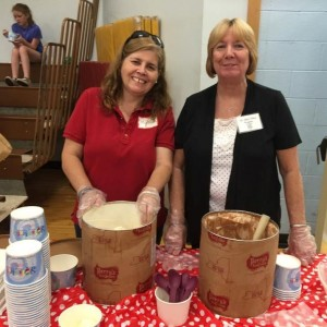 Look who was scooping ice cream.