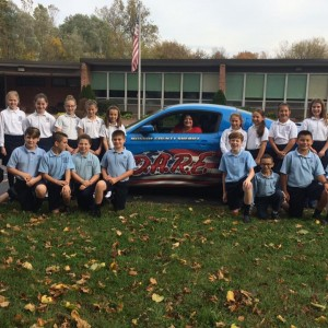 The 5th graders got a visit from D.A.R.E Ford Mustang as part of their participation in the Monroe C