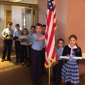 Waiting to begin the Veterans Day Service.