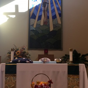 Honoring all branches of the service and those listed on the scroll