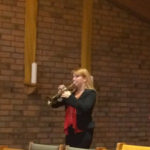 The service closed with Taps!