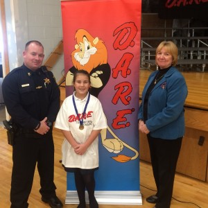 Lindsay won the D.A.R.E. essay contest.