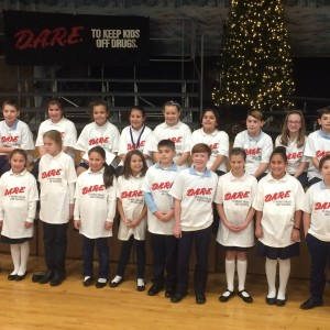 The 2017 D.A.R.E. class at their