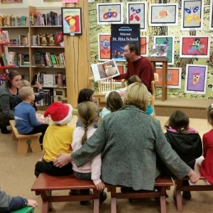 Coach Allan read to special book to us too.