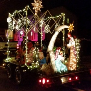 We had a beautiful float as well.