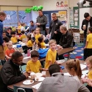 Dounts with Dad was enjoyed by all.