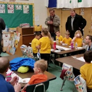 It's always nice when dads come to school.