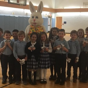 A special visitor showed up to the Annual Easter Egg Hunt.