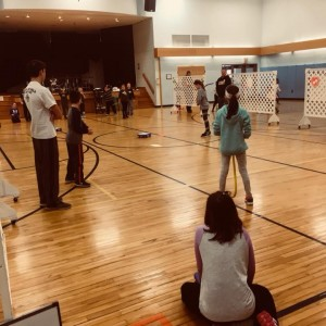 Winter Fun Day was in the gym this year due to lack of snow.
