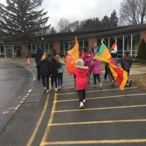 A 'Parade of Nations' was part of Winter Fun Day.