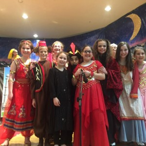 Just some of the cast of Abracadabra Aladdin, the 5th grade play.